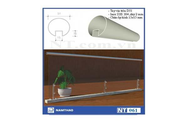 trụ lan can kính Inox NT 161
