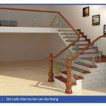 trụ cầu thang gỗ giá rẻ