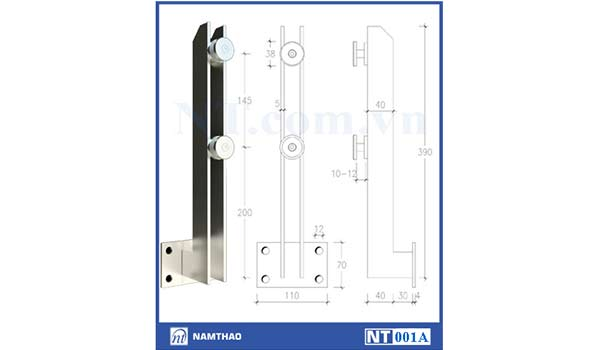 Trụ đặc 5mm ngoài mặt bậc Nam Thao NT001A
