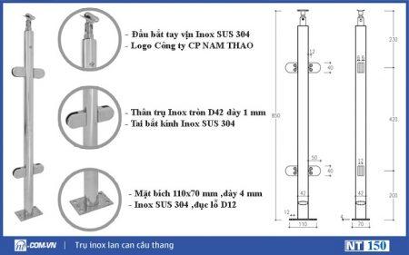 trụ lan can NT 150