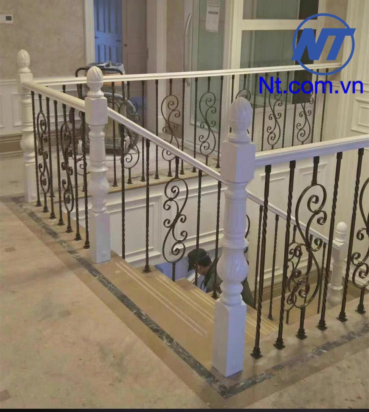 Cầu thang sắt nghệ thuật  đẹp 01